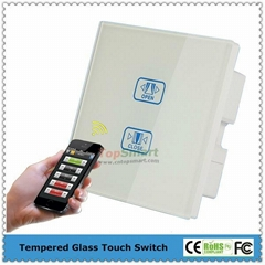 UK Standard Wifi Mobile APP  Remote Control Curtain Touch Panel Switches