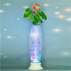 都市绿缘电子增氧水培花瓶玻璃花瓶鱼缸