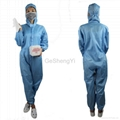 New Unisex Protective Anti Static Lab Coveralls Clothing with Hat 1