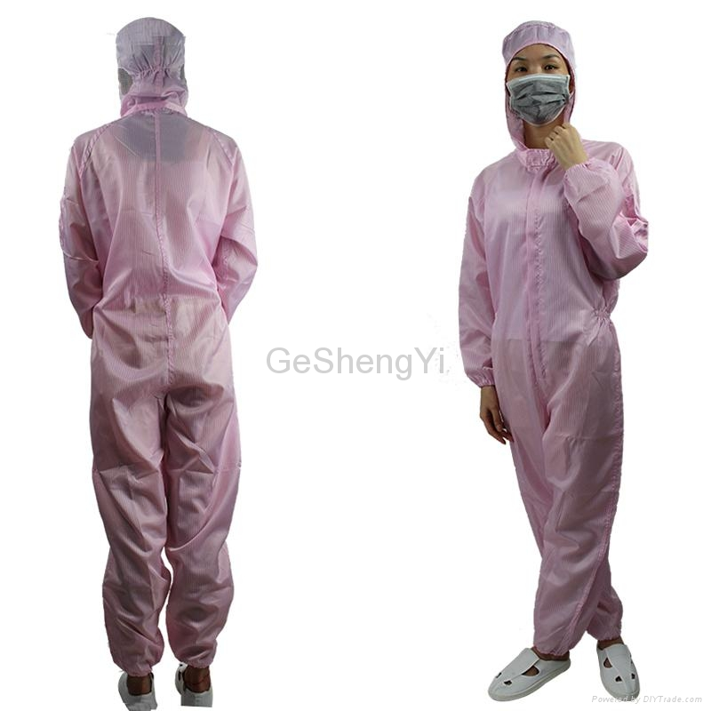 New Unisex Protective Anti Static Lab Coveralls Clothing with Hat 3