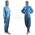 New Unisex Protective Anti Static Lab Coveralls Clothing with Hat 4