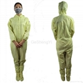 Hot Selling Women Customized LAB Anti Static Blue Coveralls 3