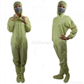 Hot Selling Women Customized LAB Anti Static Blue Coveralls 4
