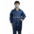 Light Weight 100% Polyester Clean Fabric Anti Static Safety Coat Size L 3