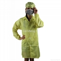 Light Weight 100% Polyester Clean Fabric Anti Static Safety Coat Size L 5
