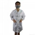 Conductive Grid Fiber Clean Fabric Anti Static Coat White Size L 2