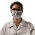 Conductive Grid Fiber Clean Fabric Anti Static Coat White Size L 5