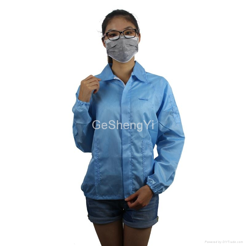 Hot Selling Women Dust-free Electronics Factory Anti Static Smocks Size L 1