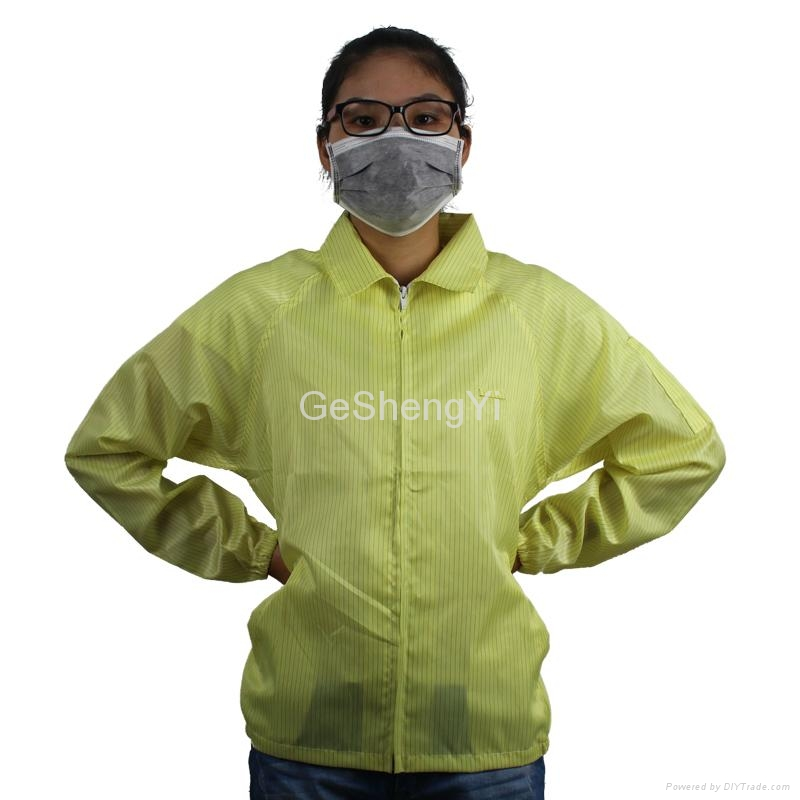 Hot Selling Women Dust-free Electronics Factory Anti Static Smocks Size L 2