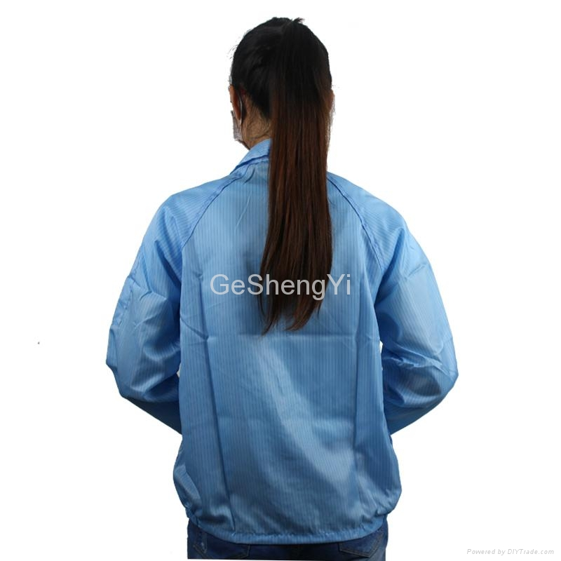 Hot Selling Women Dust-free Electronics Factory Anti Static Smocks Size L 4