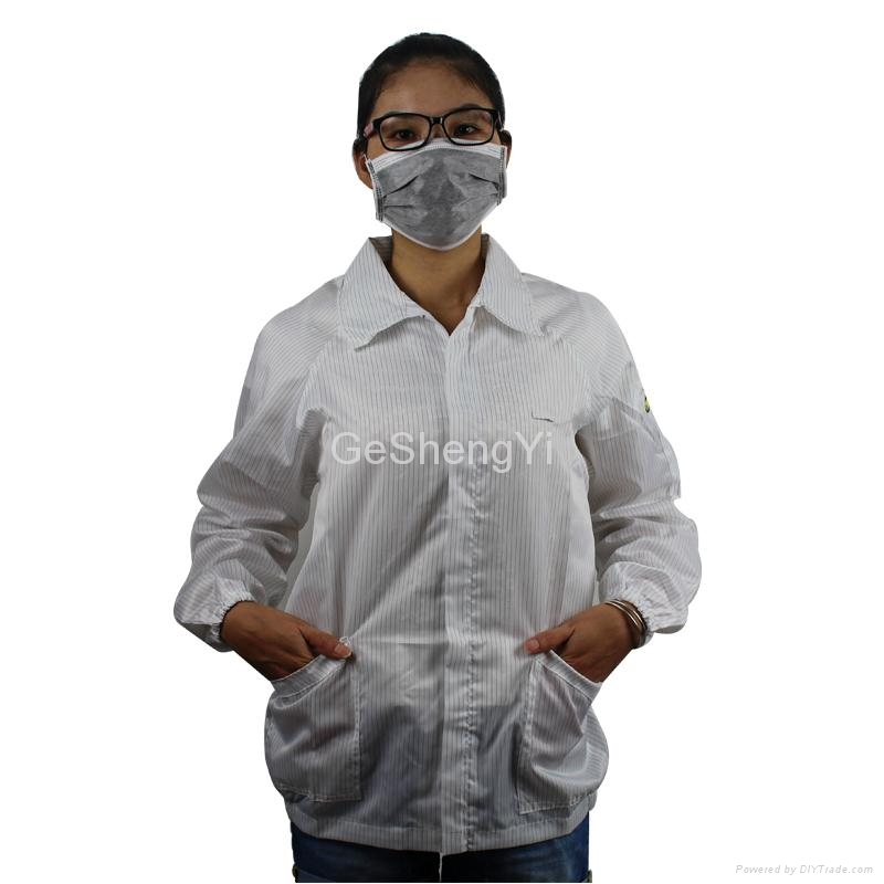 Hot Selling Women Dust-free Electronics Factory Anti Static Smocks Size L 3