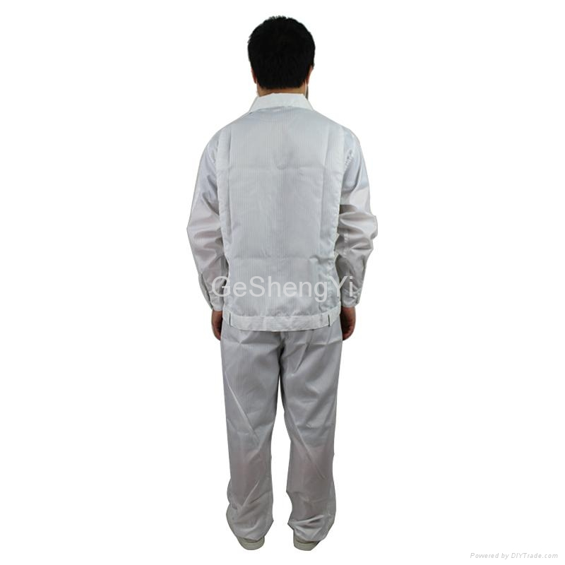 Hot Selling Man Women Protective Clean room Anti-Static Work Clothing Size XL 5