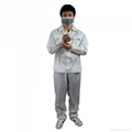 Hot Selling Man Women Protective Clean room Anti-Static Work Clothing Size XL 3