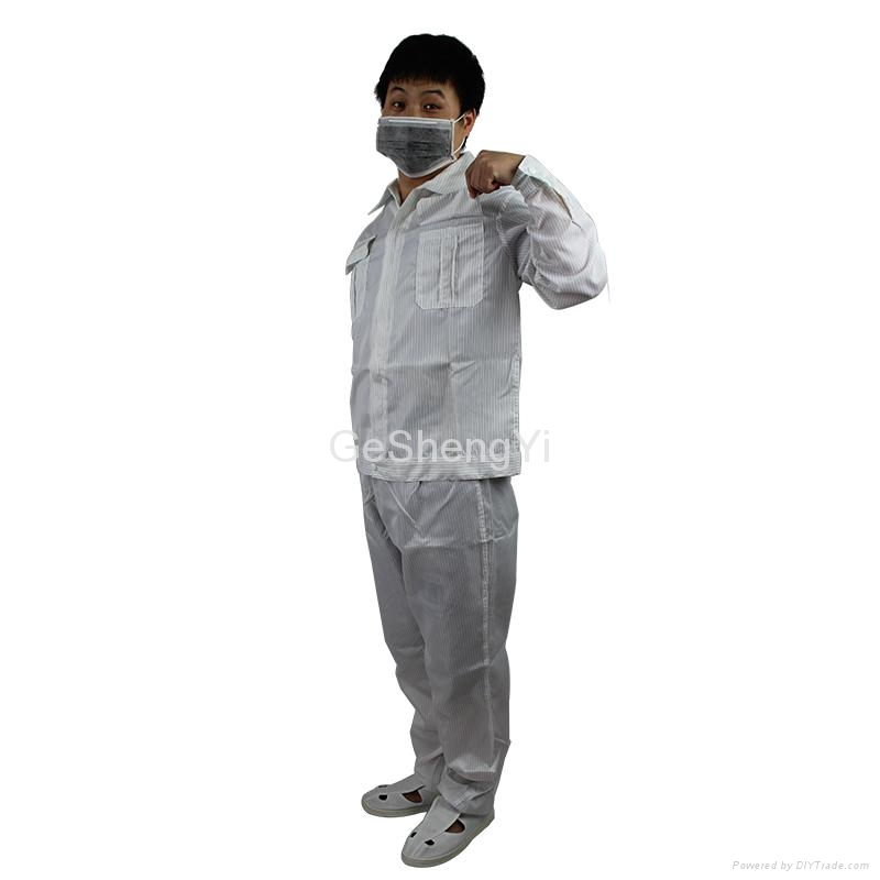 Hot Selling Man Women Protective Clean room Anti-Static Work Clothing Size XL 4