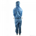 Unisex Comfortable Chemical plant Class 100 Anti-Static Coveralls Size M 5