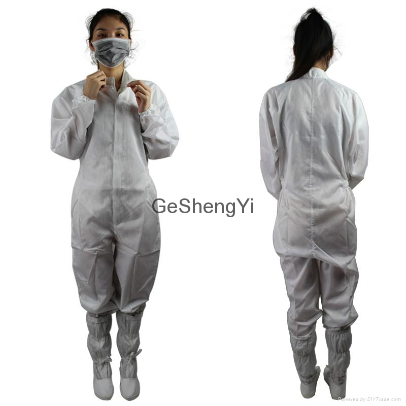 Unisex Comfortable Chemical plant Class 100 Anti-Static Coveralls Size M 3