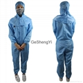 Unisex Comfortable Chemical plant Class 100 Anti-Static Coveralls Size M 2