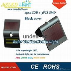 Newest designed COOL WHITE +RED LED Solar Sensor wall light