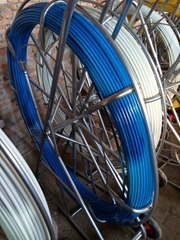 Fibreglass Duct Rodder Fish Tape on Frame & Reel for NBN Rodalong