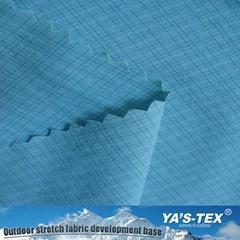 Hot Sale New Blue Anti Wrinkle Printing Nylon Stretch Fabric For Sportswear