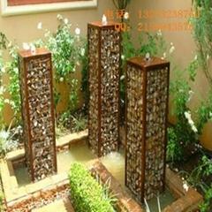 安平石笼网厂出售生态美化专用石笼网箱