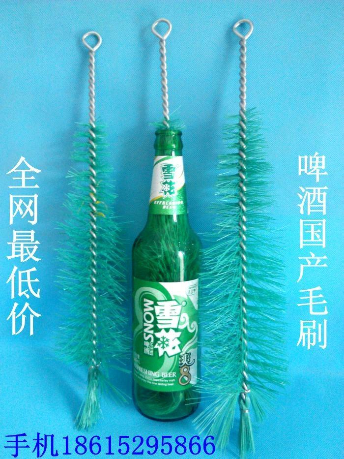 抢绿色白色长柄啤酒瓶毛刷啤酒毛刷子啤酒刷国产进口啤酒玻璃瓶刷 3