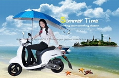 Umbrella unti-uv rain proof wind proof for motorcycle bicycle scooter