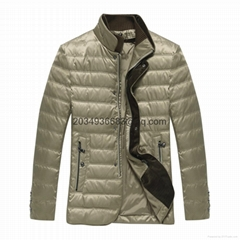 Men's white duck feather down coat winter jacket overcoat outwear 2016 new