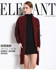 new lady's wool cape coat wool sweater cardigan winter warm jacket plus size