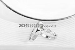 925 sterling silver men women couple lovers rings diamond
