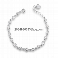 women lady diamond bracelet chain alloy bangle gift for love wholesale factory