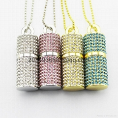 1-64 GB Metal Diamond Cylinder Pendrive USB Drive 2.0 Memory Flash Sticks