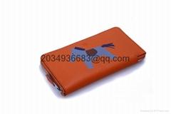 Fashion Men Women Genuine Leather Bifold Wallet Credit Card Holder Purse Zipper