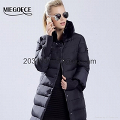2016 winter duck feather down jacket women long coat parka thickening Rabbit fur