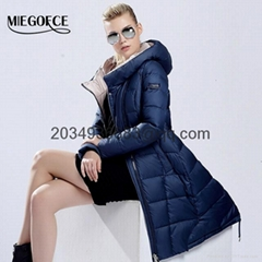 MIEGOFCE 2016 women's winter down jackets Warm thickening Warm Hood Over Coat (Hot Product - 2*)
