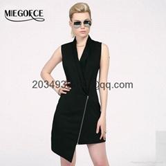 summer women's dresses vest sleeveless korea style high quality workwear dress