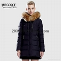 lady's down coat winter parka fox fur
