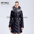 Winter Women Jacket Coat Parkas Silver