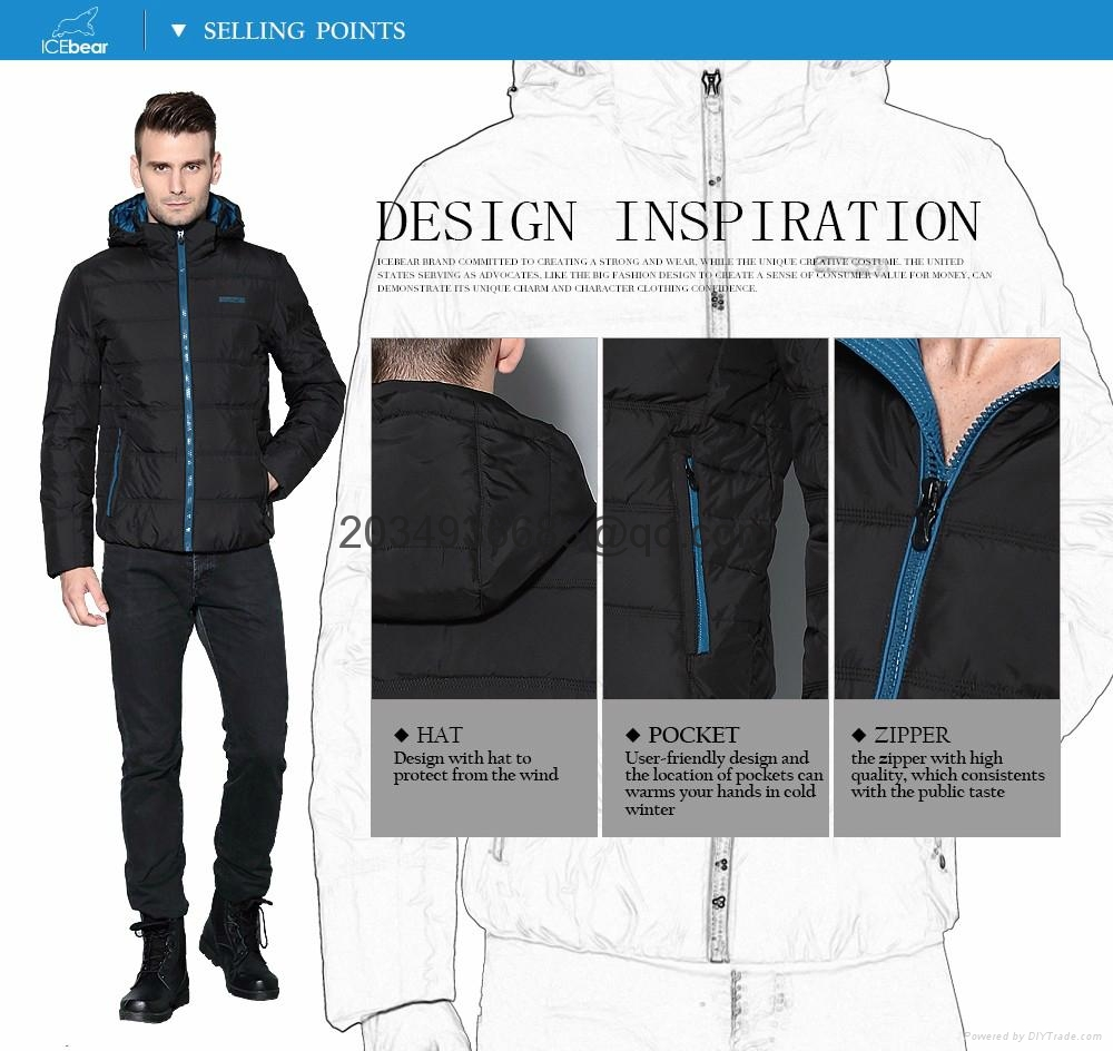 men brief paragraph with thick warm winter specials down jacket hoodie 3