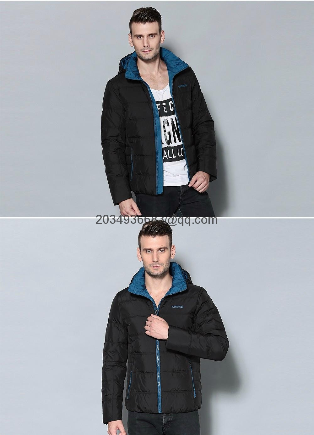 men brief paragraph with thick warm winter specials down jacket hoodie 11