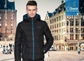 men brief paragraph with thick warm winter specials down jacket hoodie 2
