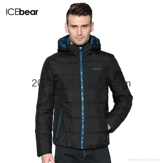 men brief paragraph with thick warm winter specials down jacket hoodie 1