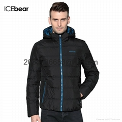 men brief paragraph with thick warm winter specials down jacket hoodie