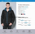 men brief paragraph with thick warm winter specials down jacket hoodie 4
