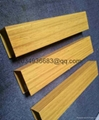 OEM T5 extruded coated wooden partern aluminum profile 2