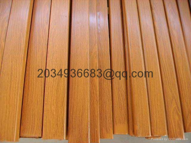 OEM T5 extruded coated wooden partern aluminum profile 5