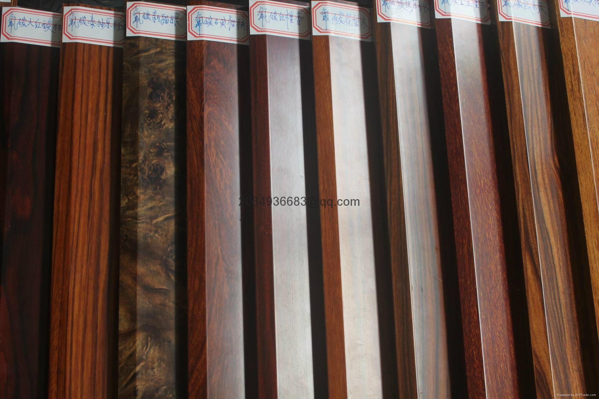 OEM T5 extruded coated wooden partern aluminum profile 9