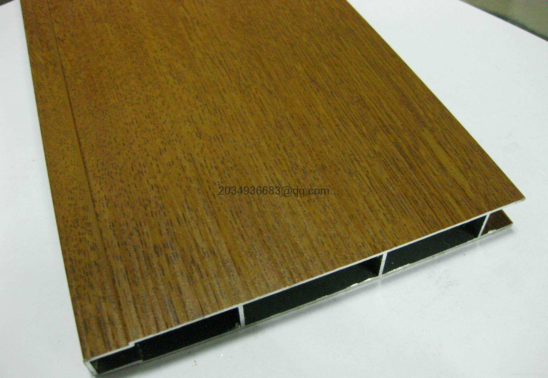 OEM T5 extruded coated wooden partern aluminum profile 10