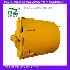 Rock drilling bucket for rotary drilling rig