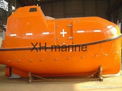 Marine life boat Used davit and engine 120persons SOLAS approved